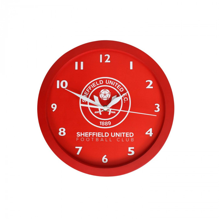 Club Clock Red